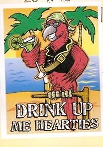 Pirate Drink Up Me Hearties Garden Banner 28x40in