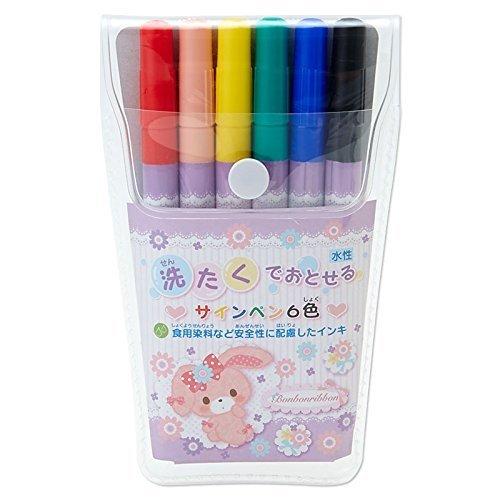 bonbonribbon-waschen-mit-waschbar-filzstift-6-farben-set-sanrio-stationery