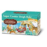 Celestial Seasonings Holiday Herbal Tea, Sugar Cookie Sleigh Ride, 20-Count (Pack of 6)