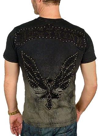 "DOCTRINE - ""PHOENIX"" Studded T-Shirt in Black"