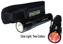 LRI PPRO Proton Pro White/Red, 2-Colors-in-1 LED Flashlight, 1-Pack