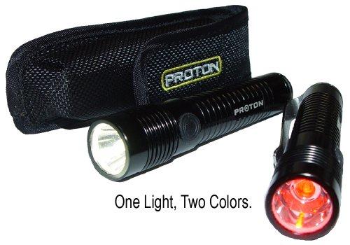 Proton Pro, Black Aluminum Body, White & Red LEDs, 1 x AA