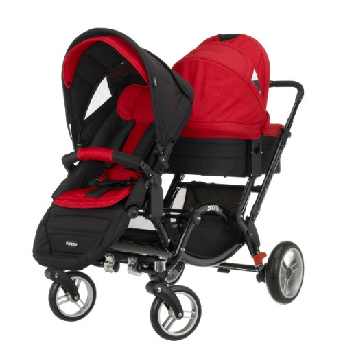 Obaby Zynergi Zoom (Black Chassis) with 2 Seat Units (Red)