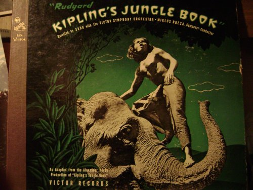 Rudyard Kipling's Jungle Book, Miklos Rozsa, Narrated By Sabu, 78 rpm by Sabu Miklos Rozsa and SABU