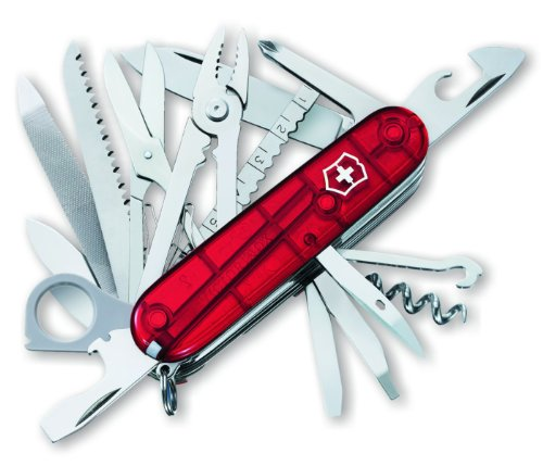 Victorinox Swiss Army Swisschamp Pocket Knife (Ruby)