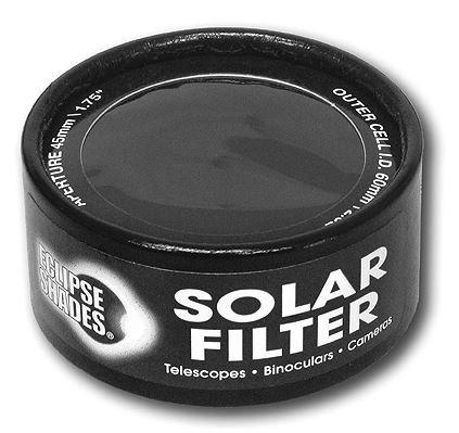 "Solar Filter 60Mm/2.32"" - Black Polymer - Binoculars, Telescopes And Cameras - Eclipse Viewing, Sunspots, Solar Flares"