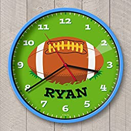 Football Personalized Clock Blue Case