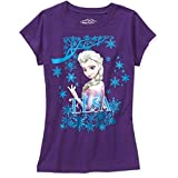Disney Frozen Elsa Girl Purple T Shirt Tee