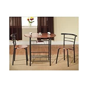 Bistro table set indoor for 2 kitchen small for Kitchen set in amazon