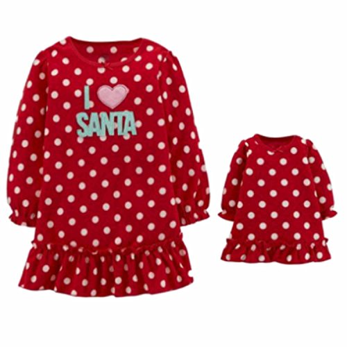 Red I Love Santa Nightgown