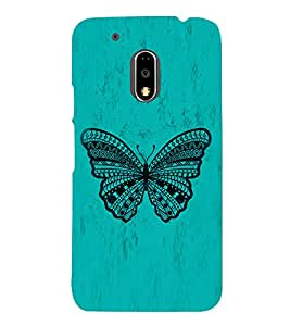 Graphical Butterfly Cute Fashion 3D Hard Polycarbonate Designer Back Case Cover for Motorola Moto G4