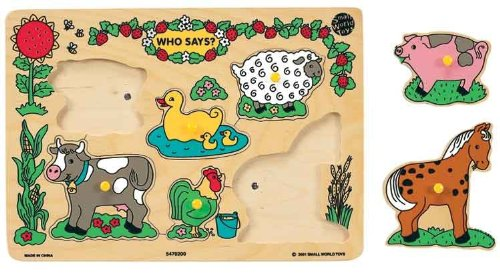 Cheap Small World Toys Who Says? Farm Sound Puzzle (B001SY9JR2)