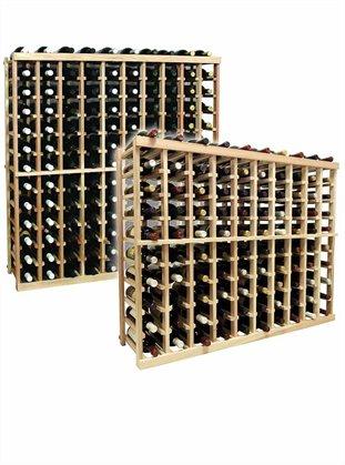 3 Ft. 10-Column Bottle Wine Rack (Prime Mahogany - Midnight Black Stain) front-629106