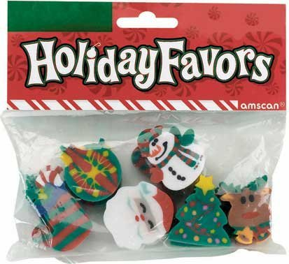 Holiday Fun Erasers 12ct - 1