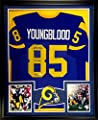 Jack Youngblood Framed Jersey Signed JSA COA Autographed Los Angeles Rams