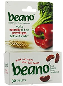 Amazon.com: Beano Tablets, 30-Count (Pack of 2): Health