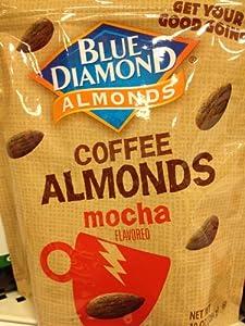 Blue Diamond Coffee Almonds Mocha Flavored, 10 Oz.