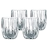 Set of 4 Fine Bavarian Non-lead Crystal Glass Tumblers in Classic Etched Pattern Design. Made in Germany