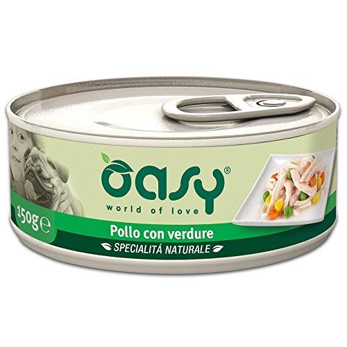 OASY Alimento umido per cane con pollo e verdure 150gr - Mangimi umidi per cani