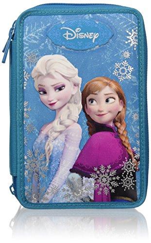 Frozen - Magia Del Ghiaccio Astuccio Scuola, 3 Scomparti, Cambia Colore, Blu