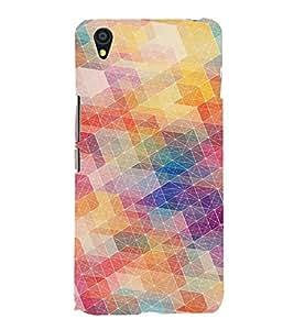 PrintVisa Modern Art Colorful Pattern 3D Hard Polycarbonate Designer Back Case Cover for One Plus X