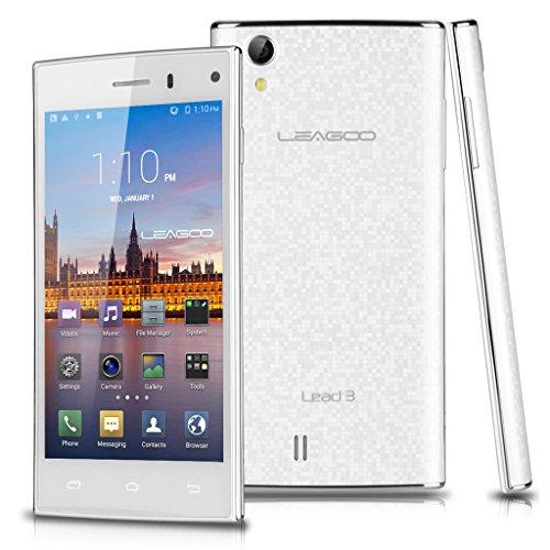 Weiß LEAGOO 3G-Smartphone Quad