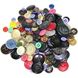 "Bag of (100) Very Assorted Buttons. Assorted Colors. Sizes Range From 3/8"" to 1-1/2"""
