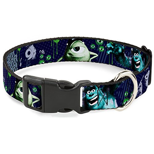 buckle-down-monsters-university-sully-mike-poses-grrrrr-disney-dog-collar-plastic-clip-buckle-small