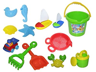 Bana Toys Beach Set Bucket with Access Deluxe (12 Pieces)