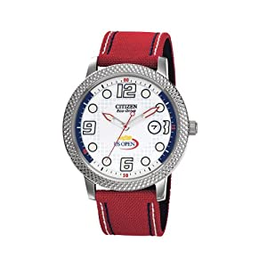 Citizen Unisex BM7211-18A Eco-Drive US Open Red Polyurethane Strap and Date Watch