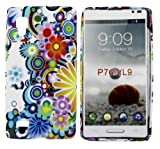 Kit Me Out UK IMD TPU Gel Case + Screen Protector with MicroFibre Cleaning Cloth for LG Optimus L9 P760 - Multicoloured Circles With Flowers