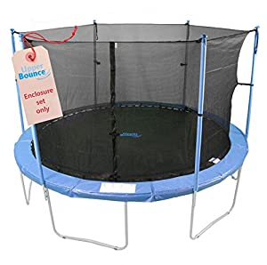 Upper Bounce Trampoline Enclosure Set to Fit 15-Feet Trampoline Frame with 4 or 8 Sets of W Shape Lags (Trampoline Not Included)