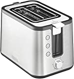 KRUPS KH442D Control Line Toaster with an integrated bun warmer and Brushed Stainless Steel Housing, 2 Slice, Silver