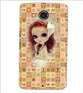 PrintDhaba Sweet Doll D-3159 Back Case Cover for MOTOROLA GOOGLE NEXUS 6 (Multi-Coloured)