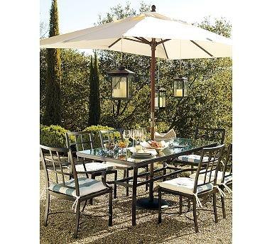 PB Riviera Rectangular Table with Glass Top Set