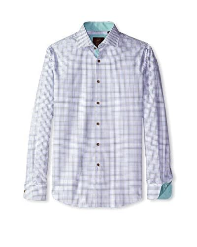 James Tattersall Men's Suffolk Fine Check Shirt