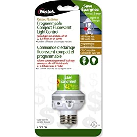 Westek SLC6CFL 100W Programmable Screw-In Light Control, White
