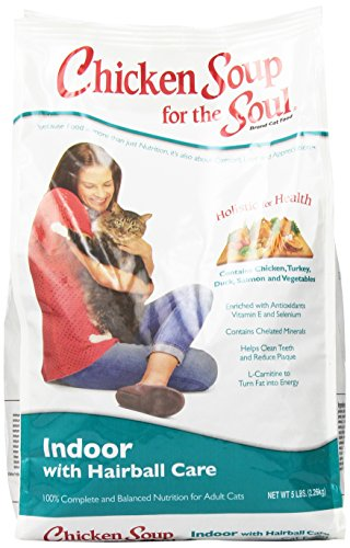 Chicken Soup for the Soul Indoor with Hairball Care Cat 5lb (Chicken Soup Cat compare prices)