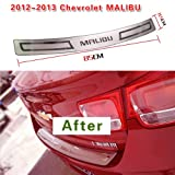 GOOACC®Rear Bumper Cover Protection Trim Exterior 1P For 2012 2013 Chevy Malibu