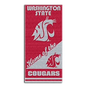 Buy NCAA Washington State Cougars Home Beach Towel, 28 x 58-Inch by Northwest