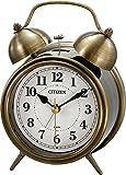 CITIZEN ( シチズン ) 目覚まし 時計 ツインベルRA06 金色イブシ仕上 8RAA06-063