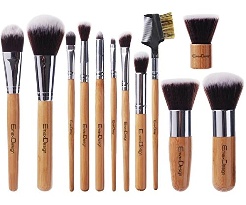 emaxdesign-makeup-brush-set-professional-12-pieces-bamboo-handle-premium-synthetic-kabuki-foundation