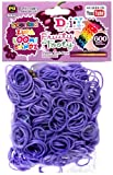D.I.Y. Do it Yourself Bracelet Zupa Loomi Bandz 600 Fruity Tooty Purple Grape Scented Rubber Bands with S Clips