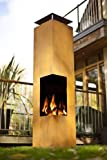 La Hacienda 56075US Oxidized Corten Steel Construction Tacora Chimenea, 36 by 59-Inch