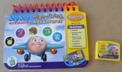 Leap Frog: Jay Jay The Jet Plane: High-Flying Adventures: Preschool Discovery Educational Booklet and Cartridge for My First LeapPad Learning System - System NOT included - 1