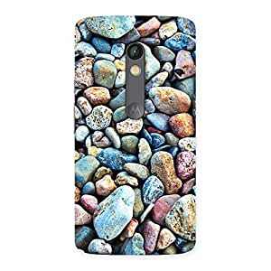 Impressive Water Pebbels Multicolor Back Case Cover for Moto X Play