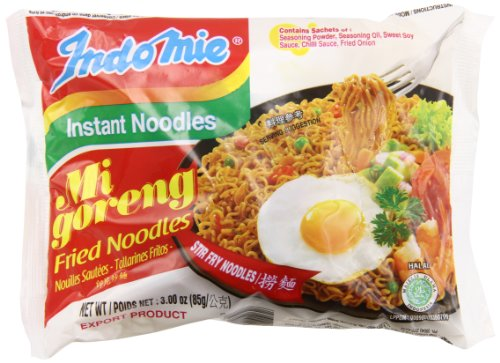 Indo Mie Mi Goreng Instant Noodle, 3 Ounce (Pack of 30)