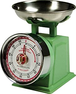 Fox Run Classic Scale Kitchen Timer, Mint Green