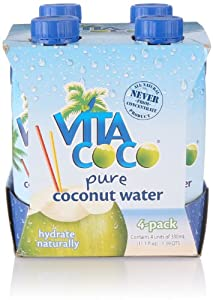 Vita Coco Coconut Water, 11.1 Ounce (Pack of 4)