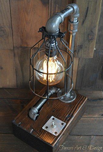 edison bulb desk lamp etsy steampunk desk lamp lighting rustic light industrial decor pipe pipes edison bulb vintage import